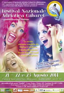Locandina Festival Adriatica Cabaret 2014